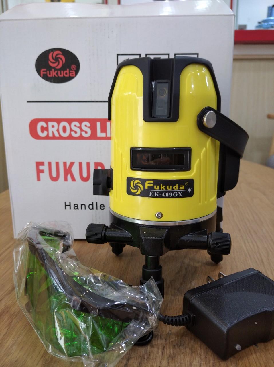 Máy cân mực laser 5 tia xanh Fukuda EK 469 GJ